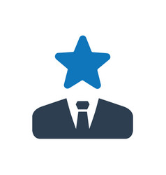 Star businessman icon vector
