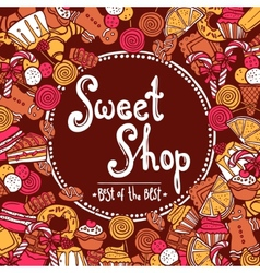 Sweet Shop Background vector