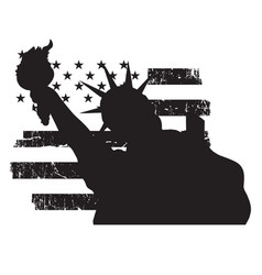 symbol of the statue of liberty new york city vector image