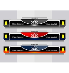 Template icons scoreboard sports vector