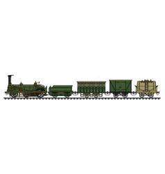 the historical steam train vector image