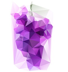 Triangulated Purple Grape vector