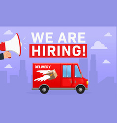 We are hiring driver driver poster recruitment vector