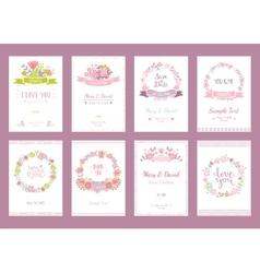Wedding vintage elements vector image
