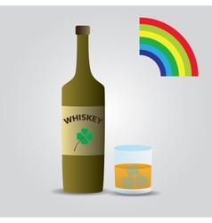 Whiskey in glass eps10 vector