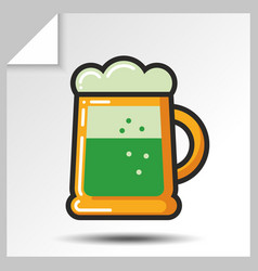 beer icons 7 vector image