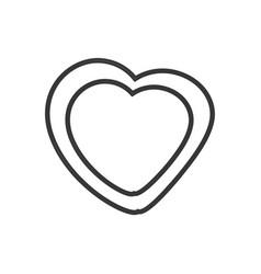 heart leave organic emblem outline vector image