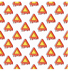 melting warning seamless pattern vector image