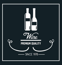 wine label design isolated vector image