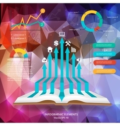 Abstract creative concept siluet hands of vector image vector image