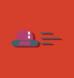 Flat icon design collection flying saucer in vector