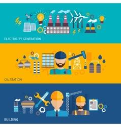 Industrial banner set vector image