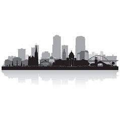 Little Rock Arkansas city skyline silhouette vector image vector image