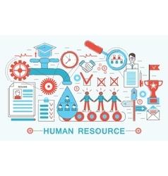 Modern Flat thin Line design Human resource vector image