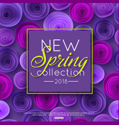 new spring collection background decorated ultra vector image vector image