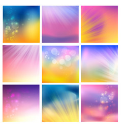 set of abstract blotted tiles vector image vector image