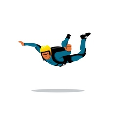 Skydiving sign vector image
