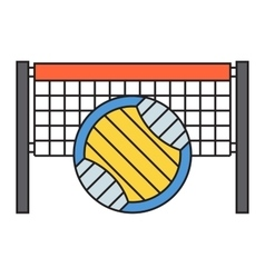 Sport team volleyball badge vector image vector image