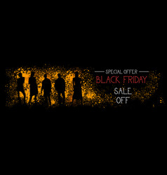 black friday special offer sale off horizontal vector image
