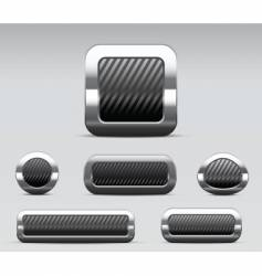 glossy metallic buttons vector image