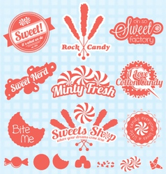 Retro Candy Labels and Icons vector image vector image