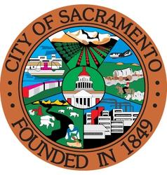 Sacramento city seal vector image