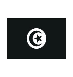 A flag of tunisia monochrome on white background vector