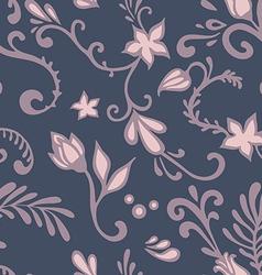 dark floral pattern vector image vector image