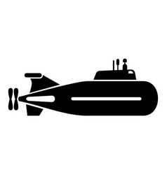 fast submarine icon simple style vector image