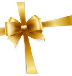 Invitation card with gold ribbon vector image