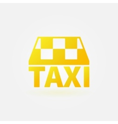 Taxi yellow icon or logo vector image