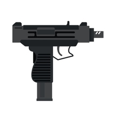 Uzi submachine gun military rifle army and weapon vector
