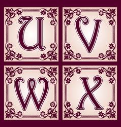 vintage ABC Part 6 vector image