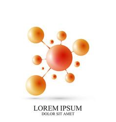 3d logotype icon dna molecule template vector image