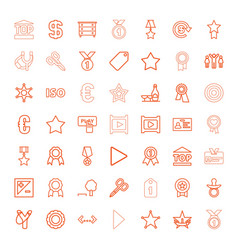 49 badge icons vector image