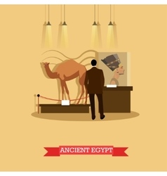ancient Egypt exposition in vector image