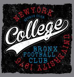 Athletic dept new york varsity sport print vector