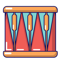 Bass drum icon cartoon style vector