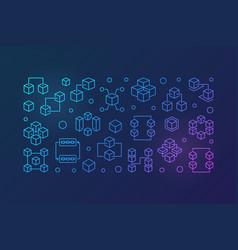 blockchain bright horizontal line vector image