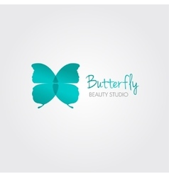 Blue Butterfly design concept for beauty vector image
