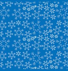 blue snowflake winter decoration seamless vector image