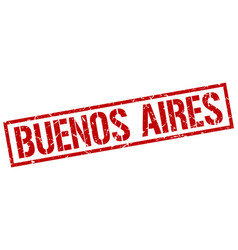 Buenos aires red square stamp vector