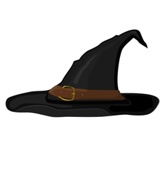 cartoon witch hat vector image