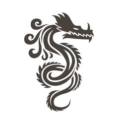 Chinese dragon on white background vector