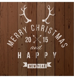Christmas type design vector image
