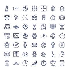 Clock icons vector