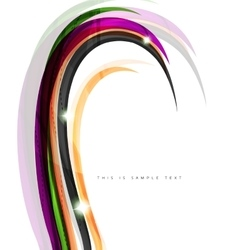 Colorful stripes wave composition business vector