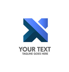 Creative letter x logo vector
