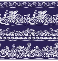 Design border webbing lace seamless pattern vector