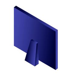 desktop monitor icon isometric style vector image